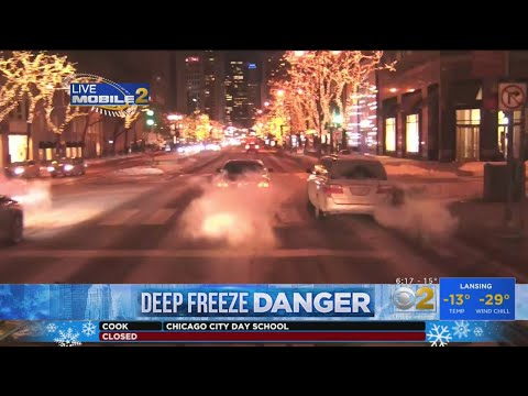Chicago Streets Deserted Due To Deep Freeze
