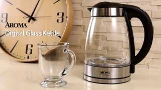 Aroma Housewares 7 Cup Glass and Stainless Digital Kettle with Tea Infuser