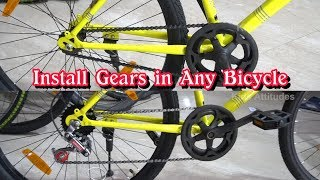 How to Install Gears in Bicycle | gears install in normal cycle | MTB | GEAR INSTALL | gear assembly