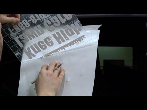 Siser EasyPSV Sign Vinyl Application to Truck Window Live Demo