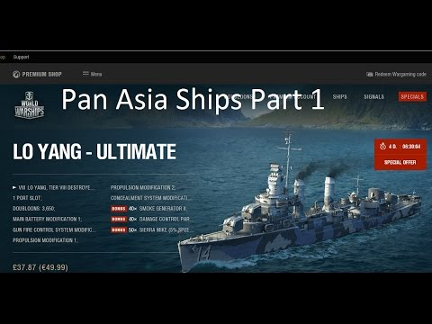 World of Warships Lo Yang New Pan Asia ships part 1