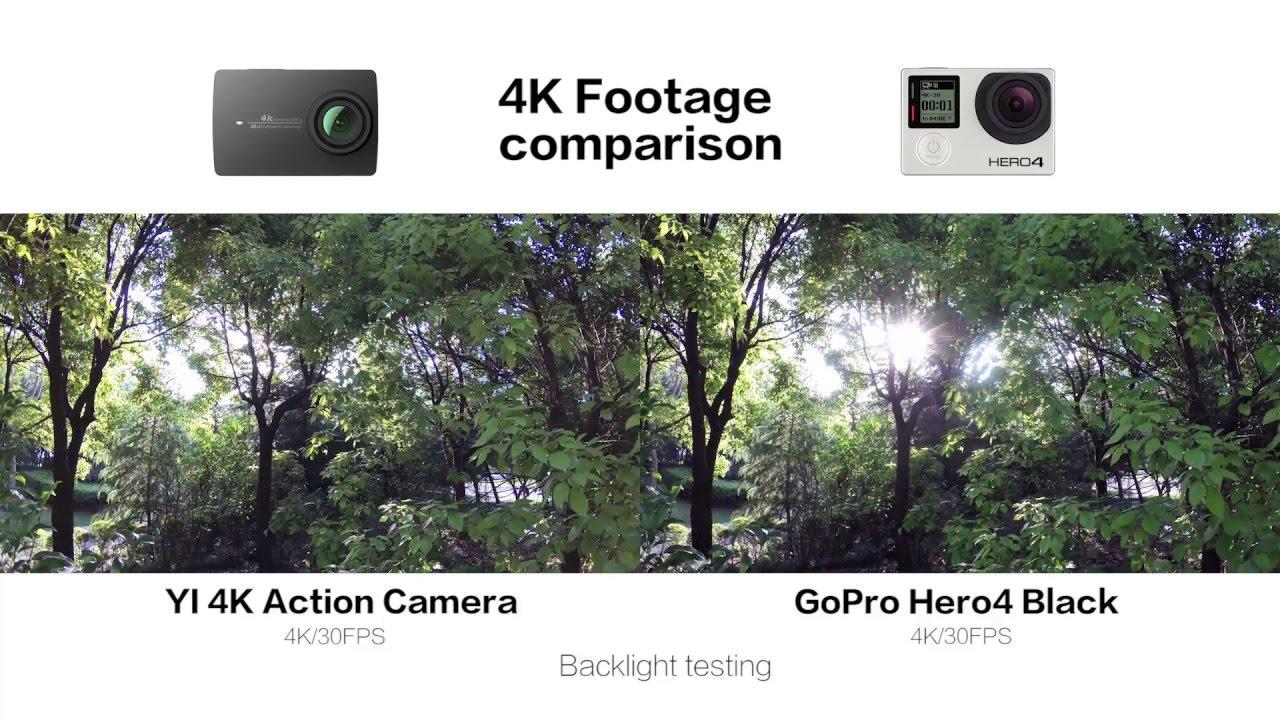 Xiaomi yi vs gopro hero action camera comparison cameralah com gopro - Raw Footage 4k 1080p120fps Comparison Yi 4k Action Camera Vs Gopro Hero4 Black