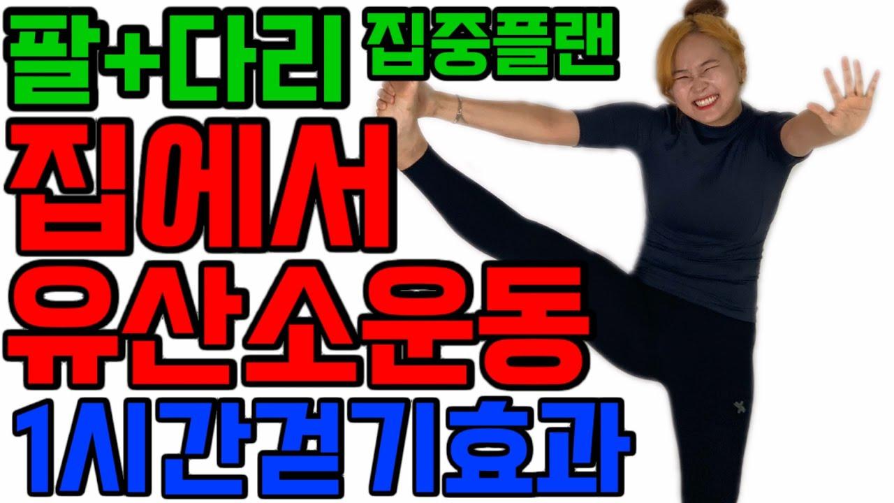 [삐약스핏유산소] 팔다리뱃살 구석구석 자극시키면서 하는 한시간걷기효과!! 유산소성 근력운동!! 달려봅시다!!!
