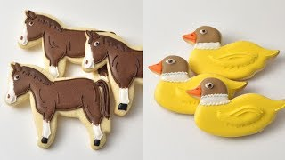 HORSE and DUCK ANIMAL FARM COOKIES by HANIELA