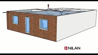 Ventilation in apartment with the Nilan Comfort 300 Top ventilation unit and NilAIR Thumbnail