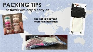 Packing Tips to travel with only a carry on!