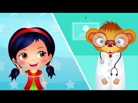 Five little monkeys | Nursery Rhymes | by 123 Kids Fun