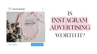 I Tried Instagram Advertising For My Etsy Business, Was It Worth It? | Cayce Anne