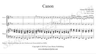 Gambar cover Pachelbel : Canon - Two violins and piano