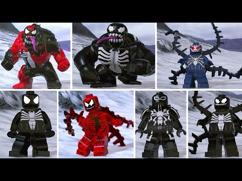 LEGO Marvel Super Heroes 2 - All Symbiote Characters - YouTube