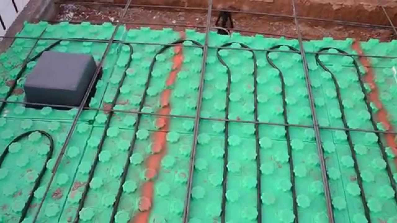 Crete Heat Slab Insulation Radiant Floor Heating Youtube
