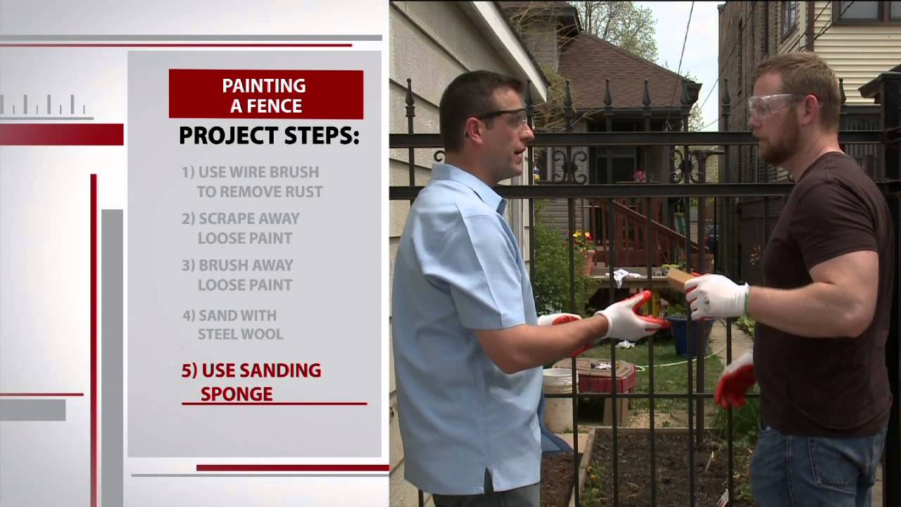 How To Paint A Wrought Iron Fence With Sean Buino Youtube