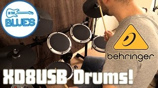Behringer XD8USB Electronic Drum Kit Demo