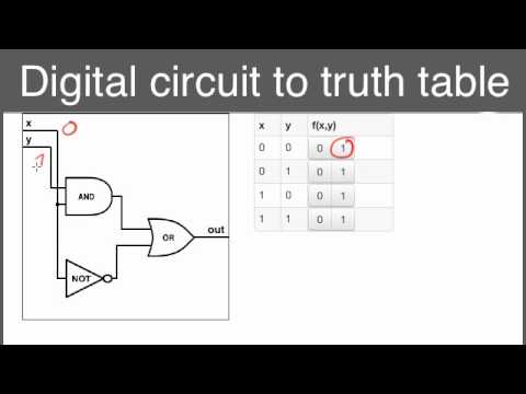 Convert digital circuits to truth tablesmp4 - YouTube