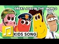 Download GREAT JOBS IN THE WORLD | NURSERY RHYME | BEST KIDS SONG | LARVA KIDS | FULL SONG | FAMILY SONG MP3 song and Music Video