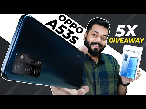 OPPO A53s 5G Unboxing And First Impressions | 5X Giveaway ⚡ Cheapest 5G Phone With Dimensity 700