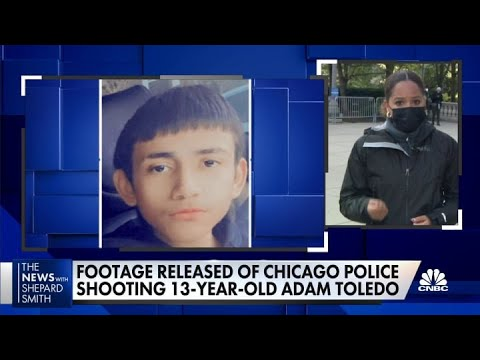Chicago officials release footage of police shooting of 13-year-old Adam Toledo
