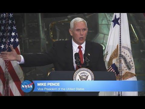 VP Pence Vows US To Put Man On Mars - Full Speech at NASA HQ