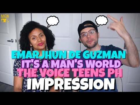 Emarjhun de Guzman - It's A Man's World | The Voice Teens Philippines Live Show | IMPRESSION