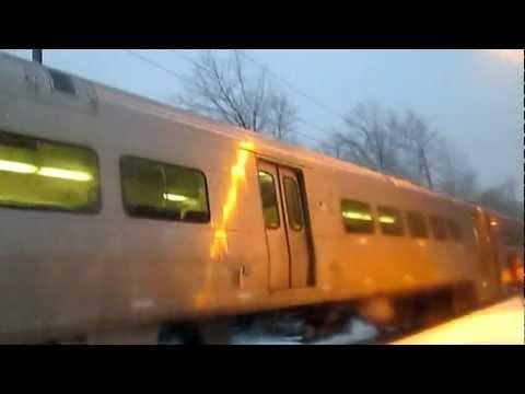 NJT #2118 at Oradell NJ in Winter Wonderland