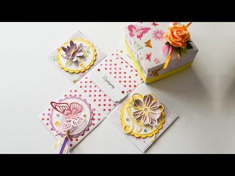How to Make - Exploding Box Gift Birthday  - Step by Step DIY | Eksplodujące Pudełko