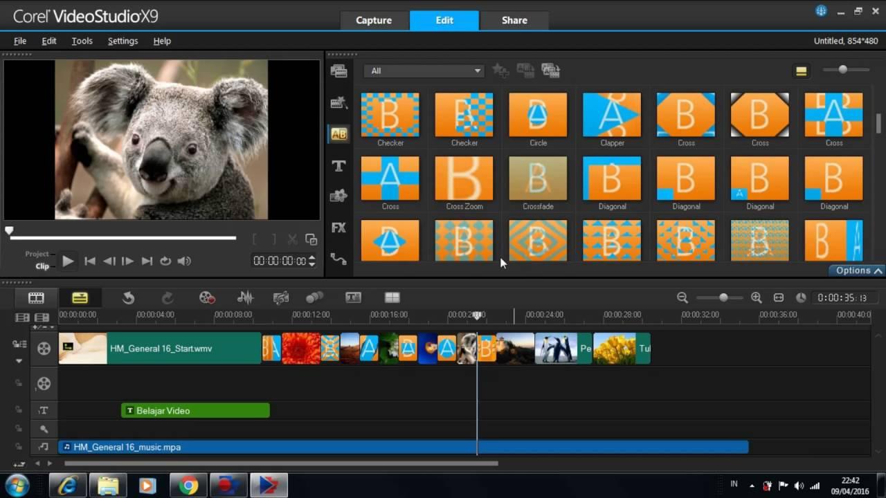 Tutorial - belajar Corel videostudio X9 indonesia