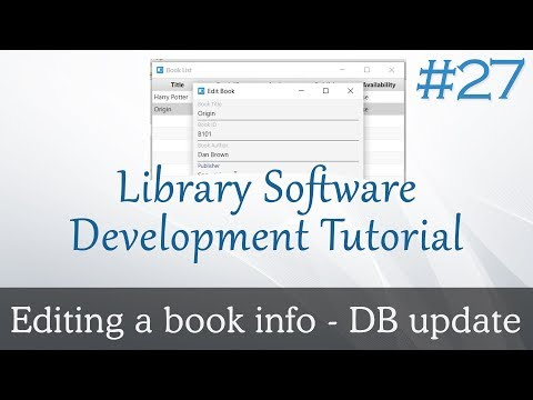 JavaFX Library Software #27 : Completing Book Edit Option - Database Part