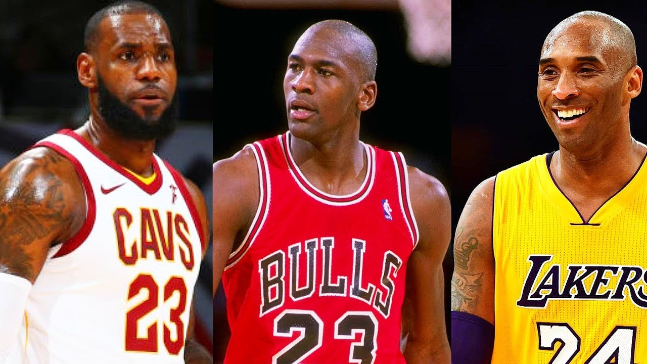 LeBron James Meets Michael Jordan and Kobe Bryant - YouTube  LeBron James Me...