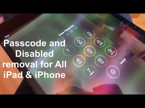 How to remove Disabled & reset Passcode locked iPad & iPhone