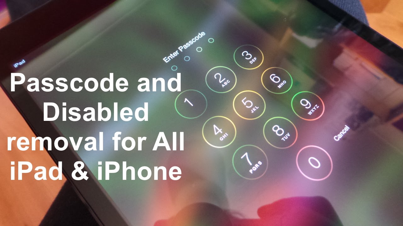 how to erase locked iphone how to remove disabled amp reset passcode locked 17147