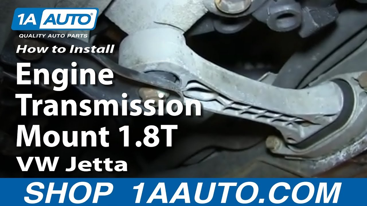 medium resolution of how to replace rear engine transmission mount 1 8t 00 05 volkswagen jetta