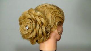 Вечерняя прическа: Роза. Цветок из волос. Hair made rose(Подписывайтесь на канал на ютубе http://www.youtube.com/user/womenbeauty1 Группа ВКОНТАКТЕ http://vk.com/club37040135 Twitter https://twitter.com/#!, 2012-11-23T21:15:53.000Z)