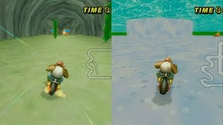 Mario Kart Wii - Custom Tracks compared to their original versions! (Side by Side Comparison) Part 2