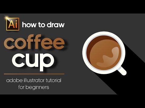HOW TO DRAW A COFFEE CUP ADOBE ILLUSTRATOR TUTORIAL FOR BEGINNERS thumbnail