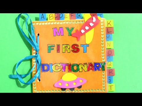 DICTIONARY FOR SCHOOL PROJECT | DIY DICTIONARY IDEAS | MINI DICTIONARY | DICTIONARY