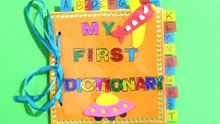 DICTIONARY FOR SCHOOL PROJECT   DIY DICTIONARY IDEAS   MINI DICTIONARY   DICTIONARY FOR KIDS