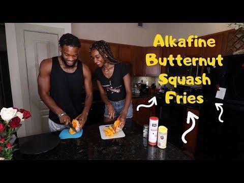 ALKALINE BUTTERNUT SQUASH FRIES COOKING TUTORIAL! thumbnail