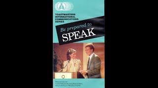 Be Prepared to Speak (1985)