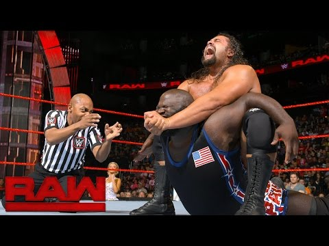 Mark Henry vs. Rusev - United States Championship Match: Raw, Aug. 1, 2016