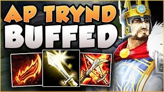 WTF RIOT?! AP TRYND HAS ONLY 3 SEC CD ON SPIN?? TRYNDAMERE SEASON 8 TOP GAMEPLAY! League of Legneds
