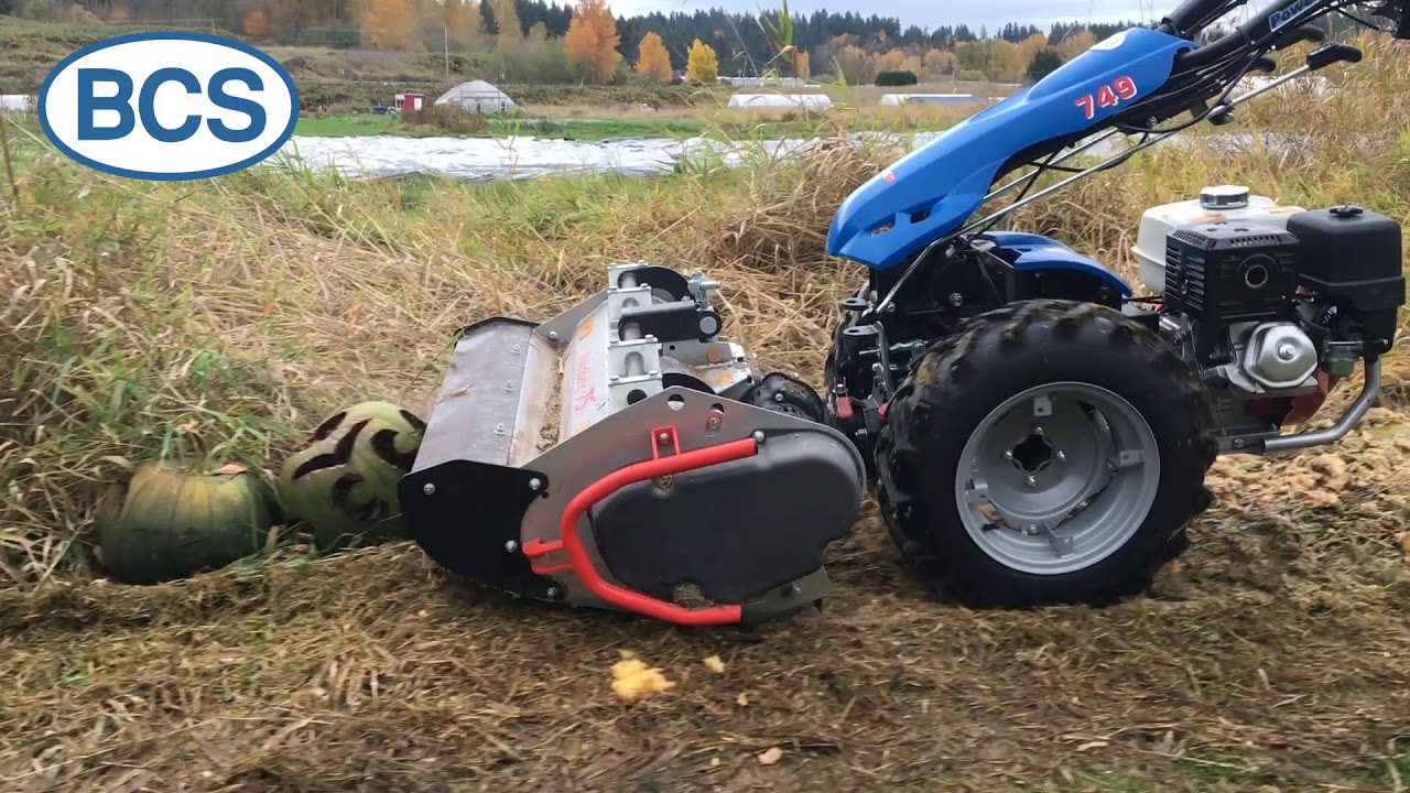 Shredding Pumpkins and Tall Grass with BCS Flail Mower