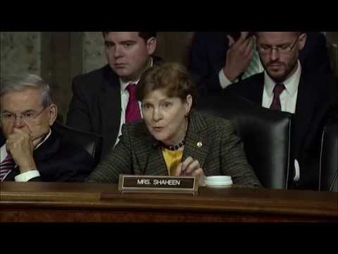 Shaheen Discusses Iran Nuclear Deal at Senate Foreign Relations Committee Hearing