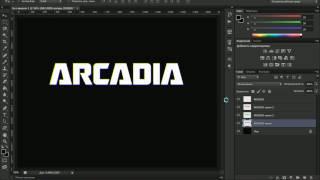 Делаем в Photoshop титры из фильма формата VHS (Photoshop CS6 tutorial)