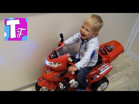 Электромобиль детский Мотоцикл распаковка  Children's electric car #Автомобили...