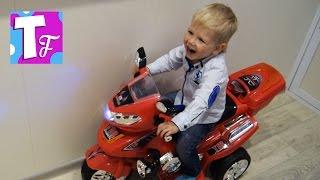 ЭЛЕКТРОМОБИЛЬ детский МОТОЦИКЛ распаковка 🚲  Children's electric car  #Автомобили #Транспорт