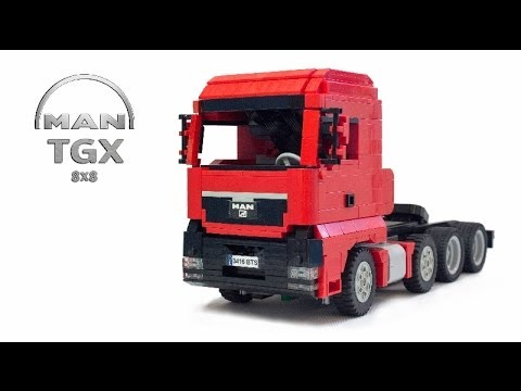 lego man tgx ballast trailer youtube. Black Bedroom Furniture Sets. Home Design Ideas