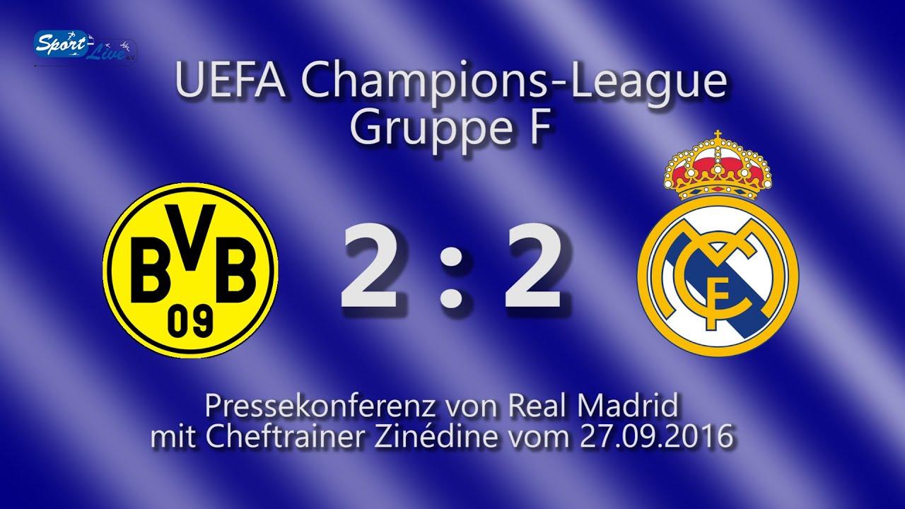 Borussia Dortmund - Real Madrid: PK mit Zinédine Zidane
