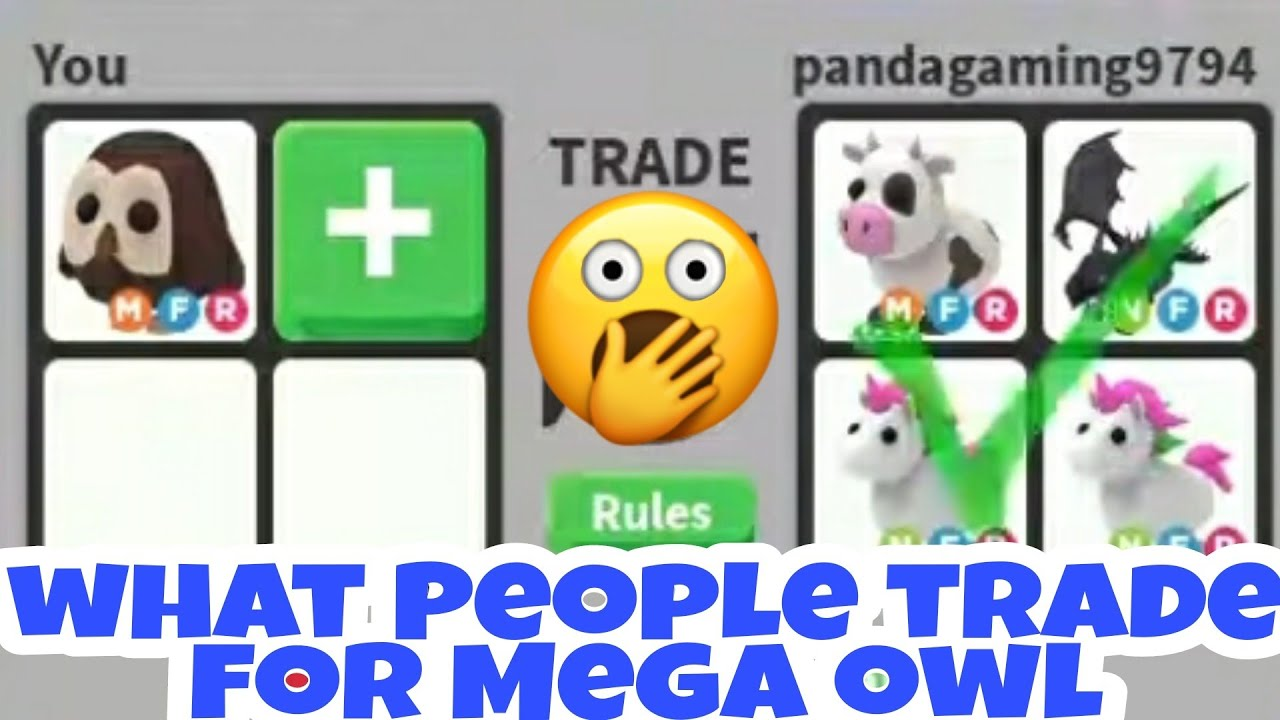 What People Trade For Mega Neon Owl In Adopt Me Trading
