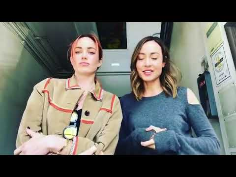 Caity Lotz with Courtney Ford on her Instagram