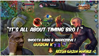 Download lagu GUSION K' MONTAGE ! PERFECT TIMING WITH LIGHTNING SPEED COMBO ! 🔥 | Reisya Gusion Montage #2